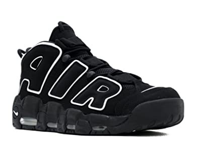 magasin d'usine 8e7db 75ae1 Nike Mens Air More Uptempo Black/White-Black Leather