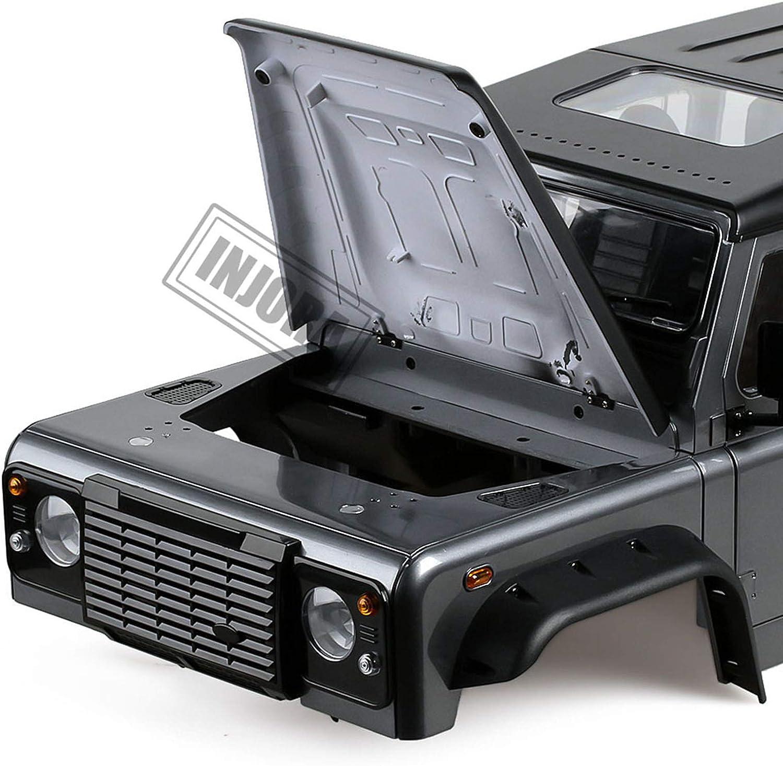 INJORA RC Carrocería Kit 313mm Distancia Entre Ejes Corpo Cuerpo D110 Defender Body Car Shell para 1/10 RC Crawler Traxxas TRX4 Axial SCX10 90046 ...