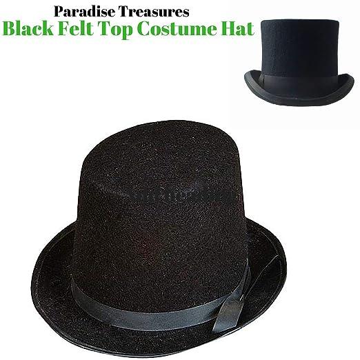 Amazon.com  Steampunk Top Hat-Black Felt Top Hat 2d1cac3a2f5