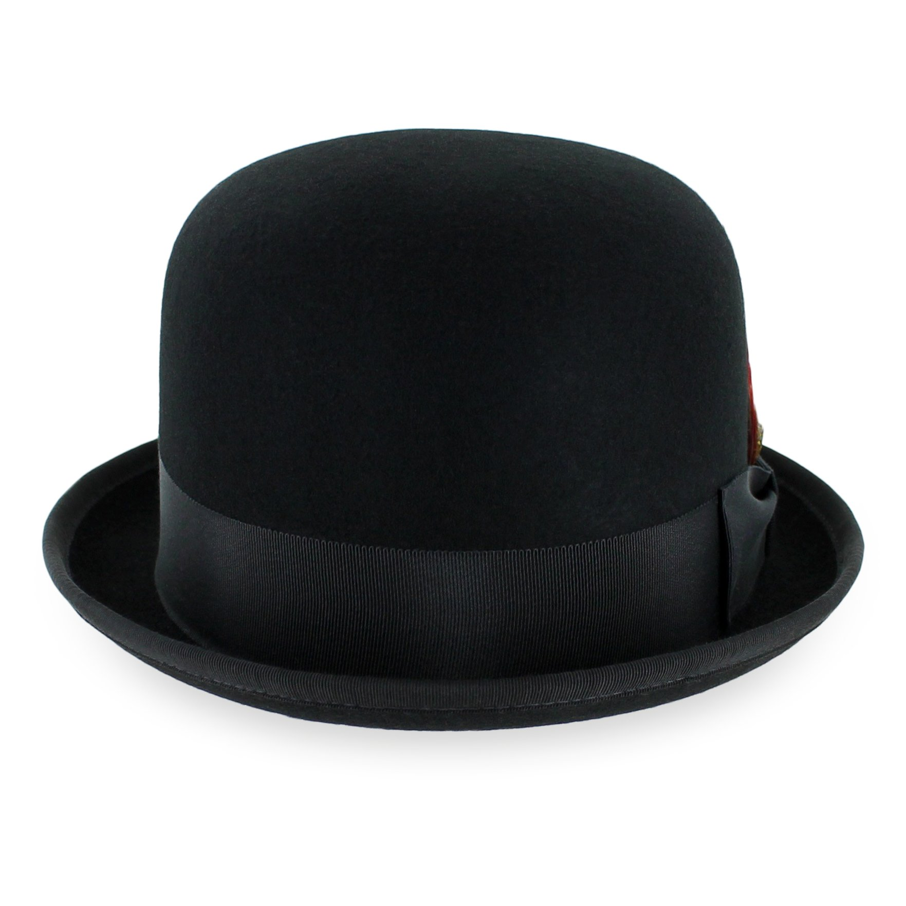 Belfry Deuce 100% Wool Felt Stingy Brim Men's Derby Bowler Hat in 4 Sizes and 2 Colors X-Large Black