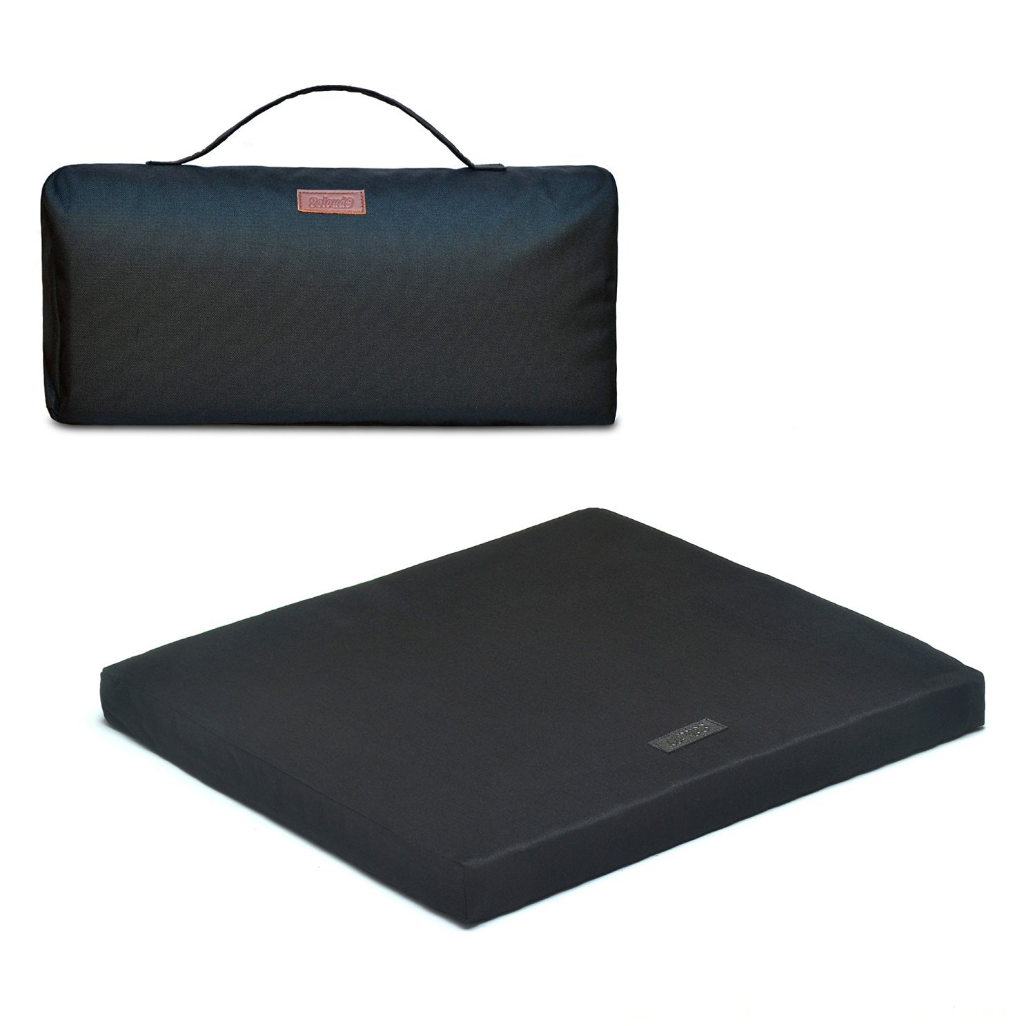 The Upgrade Seat, 100% Natural Latex Foam Seat Cushion for Home, Airplanes, Office, Cars, Wheelchairs and Stadiums with 100% Cotton Cover (Black)