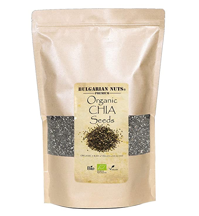 2 kg Semillas de chia negro orgánico, crudas, puras, limpias ...