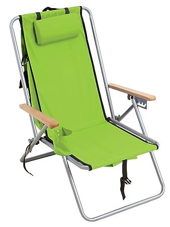 Amazon.com: RIO Gear - Silla de mochila (acero), color verde ...