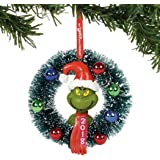 "Department 56 Grinch 2018 Wreath Hanging Ornament, 4"", Multicolor"