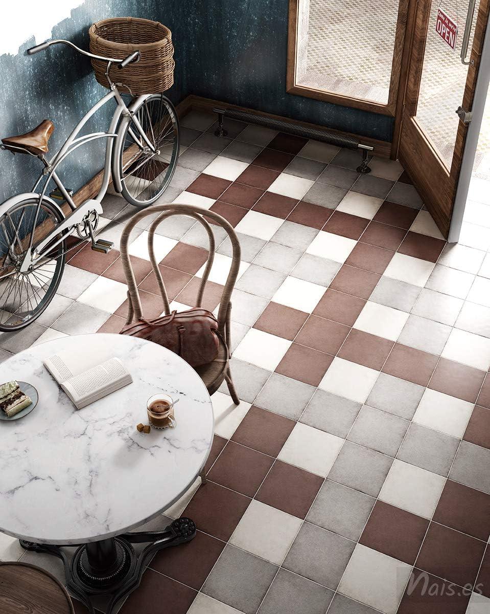 Nais 20x20 cm - Colecci/ón Art Nouveau interior y exterior Baldosas cer/ámicas para suelos y paredes Color Bone