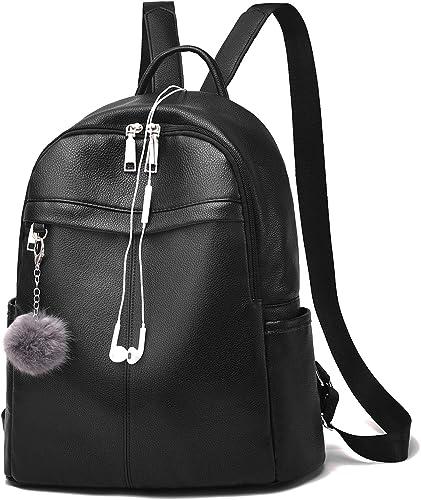 Women/'s Backpack PU Leather Waterproof Rucksack Zipper Soft Bag Ladies Backpack