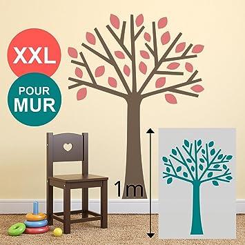 Grand Pochoir 100 X 70 Cm XL Mural Arbre Pour Mur Chambre Enfant