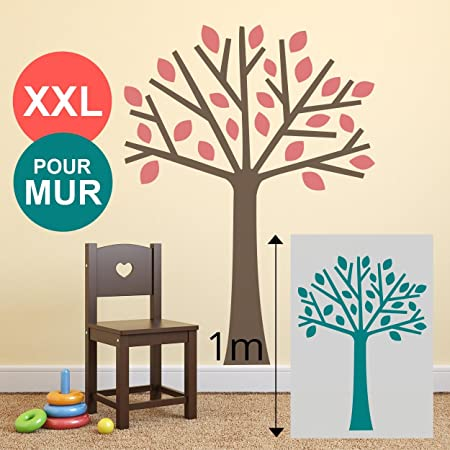 Stencil Large 100 X 70 cm, Extra Large Tree Wall mural for Child's