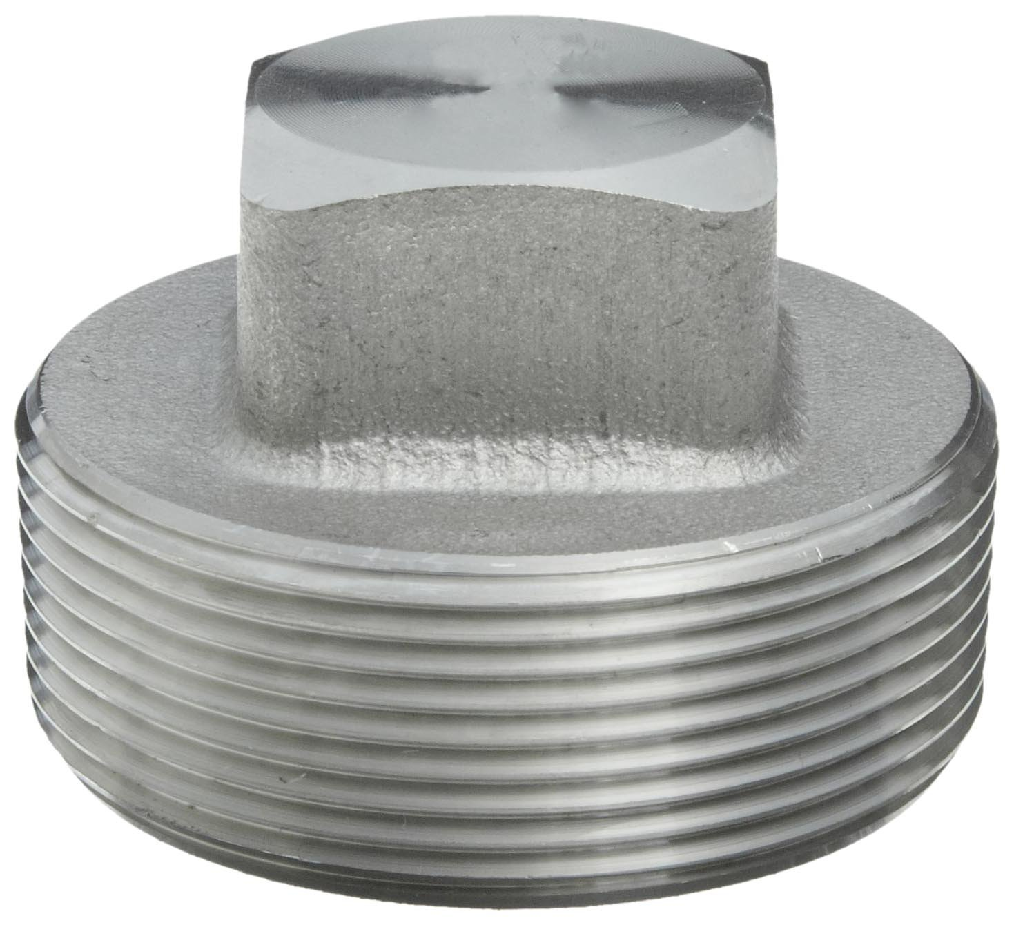 Plug 316//316L Forged Stainless Steel Pipe Fitting 3//8 NPT Male 3//8 NPT Male Merit Brass 3617DA-06 Class 3000