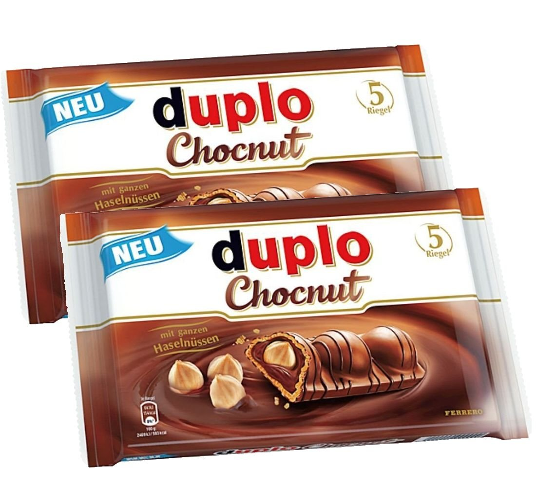 Amazon.com : Ferrero Duplo Chocnut, 5 bars per pack (5 x 26g ...