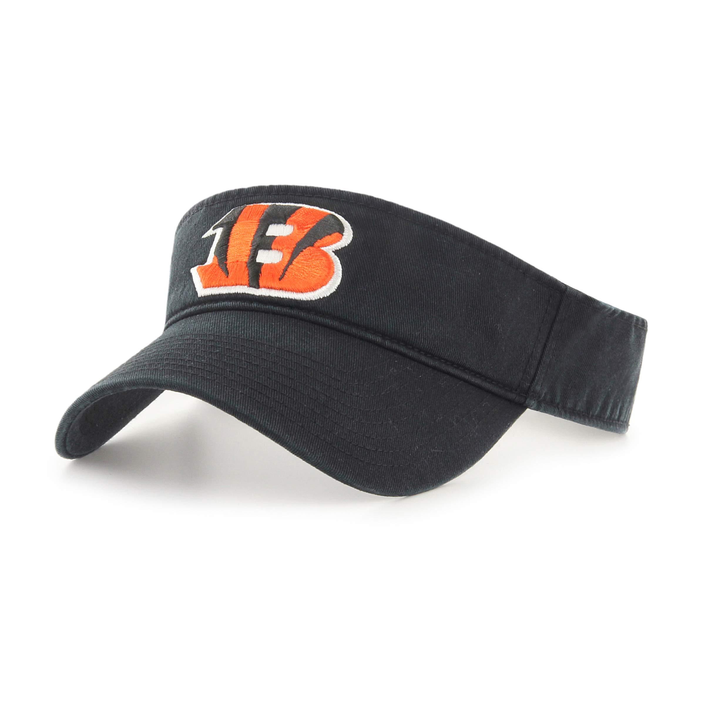 OTS NFL Cincinnati Bengals Male Visor, Black, One Size