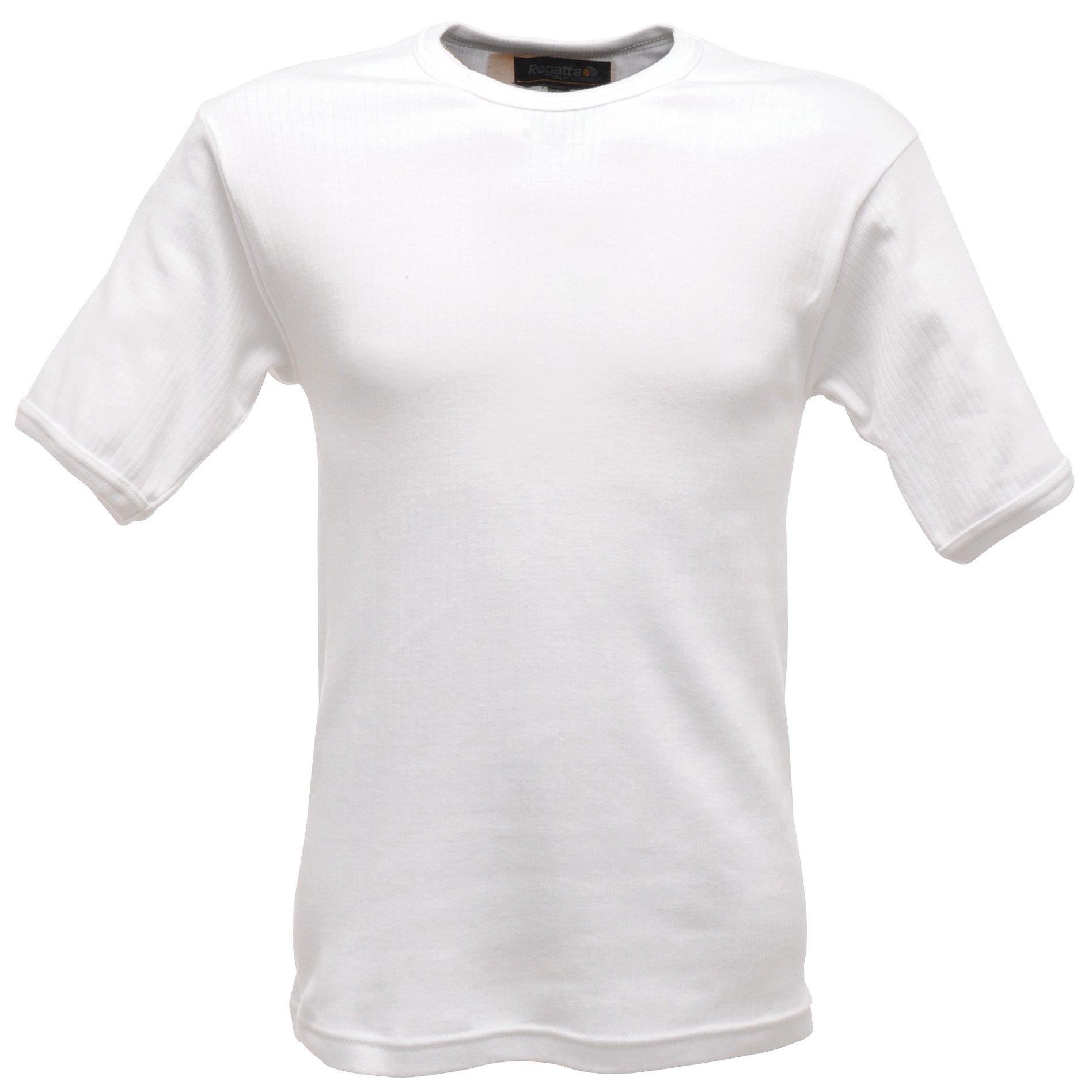 Regatta Mens Thermal Underwear Short Sleeve Vest / T-Shirt (M) (White) by Regatta