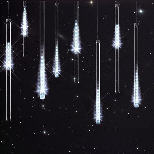led meteor shower lights savvypixel 30cm 8 tube 144 leds falling rh amazon co uk