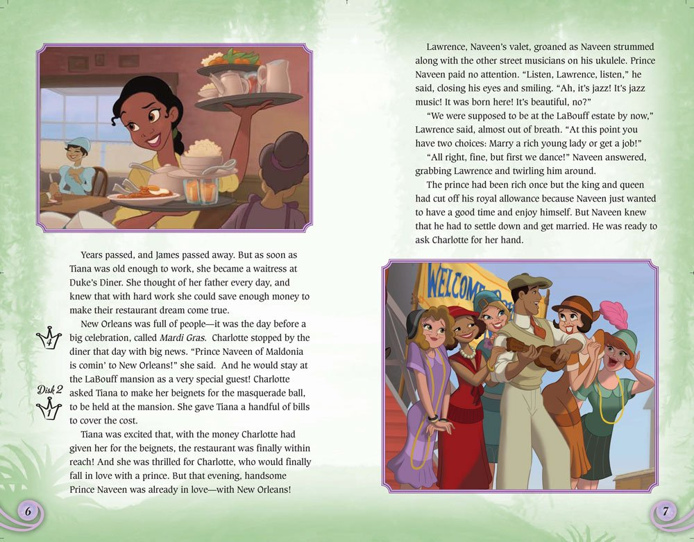 Amazoncom Disney Princess and the Frog Movie Theater Storybook