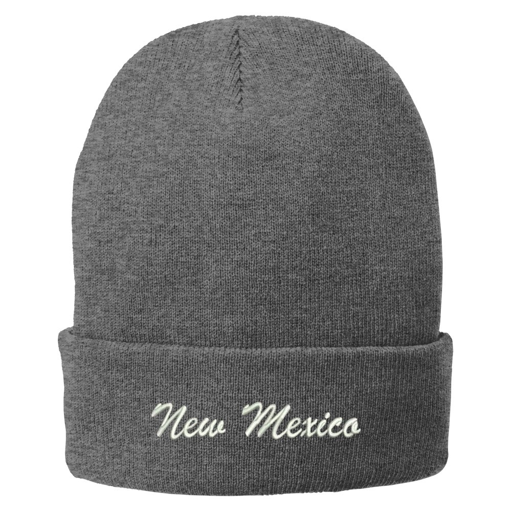 Trendy Apparel Shop New Mexico Embroidered Winter Folded Long Beanie