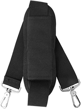 Pixnor Verstellbarer Gepolsterter Schultergurt Mit Schwenkbarem Haken Für Taschen Aktenmappen Gepäck Schwarz Sport Freizeit