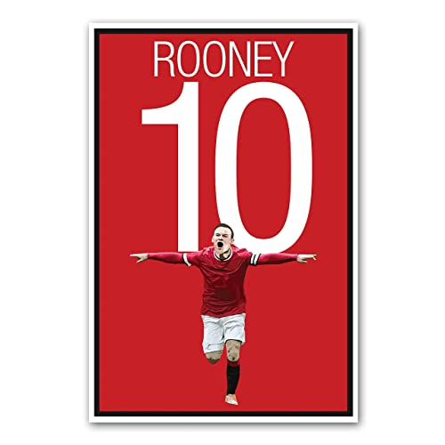 Amazon Com Wayne Rooney Poster Manchester United Art Handmade