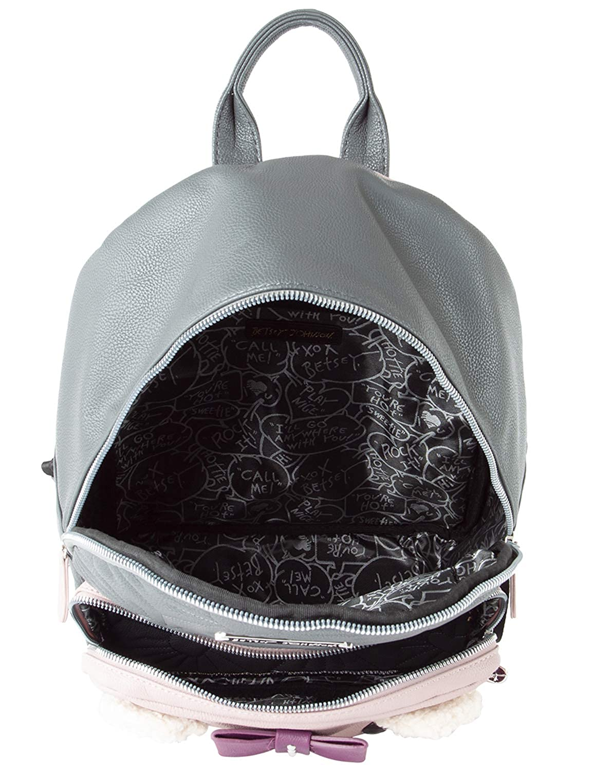 Amazon.com | Betsey Johnson Womens Cat Backpack Grey Multi One Size | Backpacks