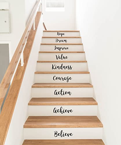 Amazon Com Stair Riser Wall Decals Stickers Motivational Quotes