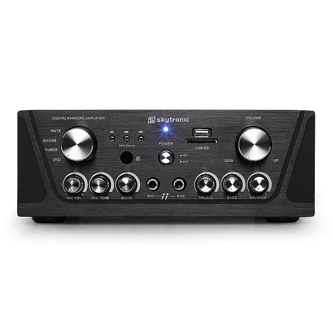 Skytronic 103.134 amplificador Hi Fi (2 x 50 W, entradas RCA, USB y SD) - Negro: Amazon.es: Electrónica