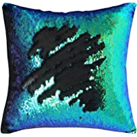 Play Tailor Mermaid Pillow Case, Magic Reversible Sequins Pillow Cover Throw Cushion Case 40x40CM