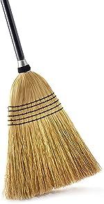 O-Cedar Heavy Duty Commercial 100% Corn Broom with Solid Wood Handle