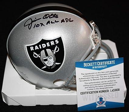 d75ec16b495 Jim Otto Autographed Signed Mini Helmet Oakland Raiders Hurricanes  Signature - Beckett Authentic