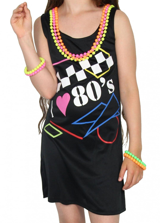 Foxxeo 40218I Vestido de Mujer Me Encanta el Traje de neón de los ...