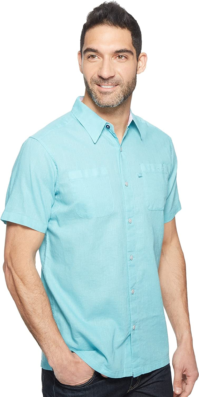 9f2016995a9 Columbia Mens Harborside Slim Fit Linen Camp Shirt at Amazon Men's Clothing  store: