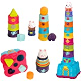 KIMI HOUSE Stack Up Cup Toys, Early Development Toys, Stacking, Nesting, Sorting Cups and Rattle Shaker for Infants…