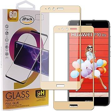 Guran [2 Paquete Protector de Pantalla para Huawei P10 Lite Smartphone Cobertura Completa Protección 9H Dureza Alta Definicion Vidrio Templado Película: Amazon.es: Electrónica