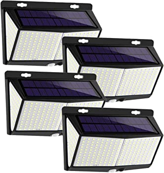 4-Pack Enkman 3200-Lumen Solar Outdoor LED Lights