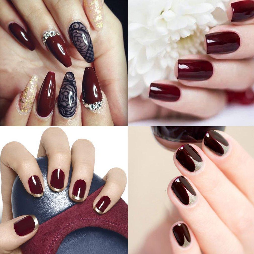 Gel de uñas Soak Off, Rojo Gris esmalte de uñas Gel polaco Kits de regalo por ukiyo: Amazon.es: Belleza