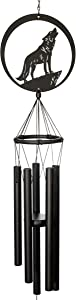 VP Home Howling Wolf Outdoor Garden Decor Wind Chime