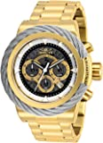 Invicta Men's Bolt Quartz Watch with Stainless-Steel Strap, Gold, 24 (Model: 27803)