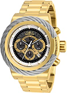 Invicta Mens Bolt Quartz Watch with Stainless-Steel Strap, Gold, 24 (Model