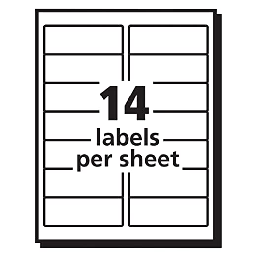 Amazon Avery 5662 Easy Peel 1 13 X 4 Clear Address Labels