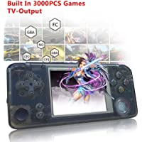 Retro Handheld Game Console, with Built in 3000 Classic Games,Dual Core 16G Emulator 3.0'' FC TV Support Game Player,Portable Video Games Console for Kids Adults Birthday Presents,New Crystal Black