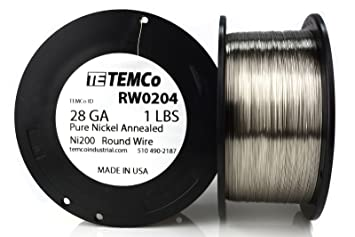 Temco pure nickel wire 28 gauge 1 lb non resistance awg ni200 temco pure nickel wire 28 gauge 1 lb non resistance awg ni200 nickel 200 ga keyboard keysfo Choice Image