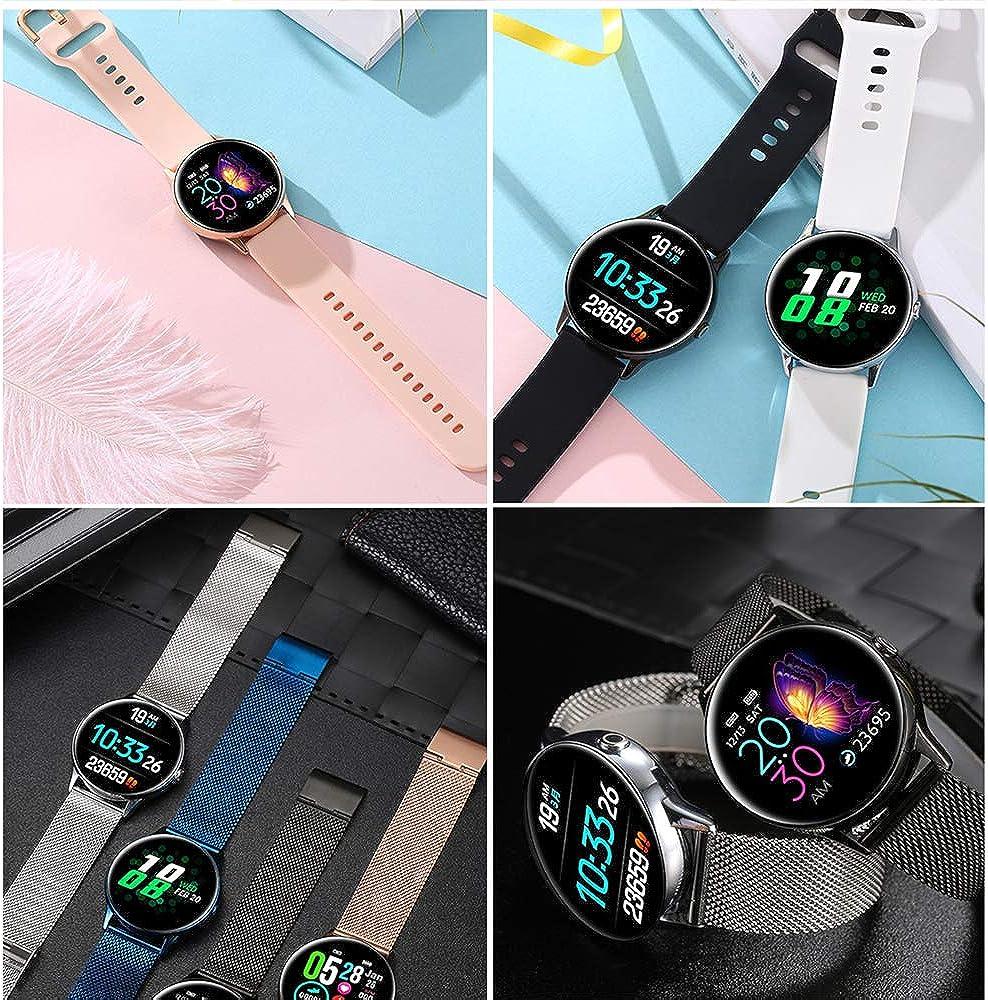 Orologio da donna 2020 Nuovo orologio da donna Smartwatch IP68 Dispositivo indossabile impermeabile Cardiofrequenzimetro Sport Smart Watch per orologio sportivo Standby lungo Rosa1