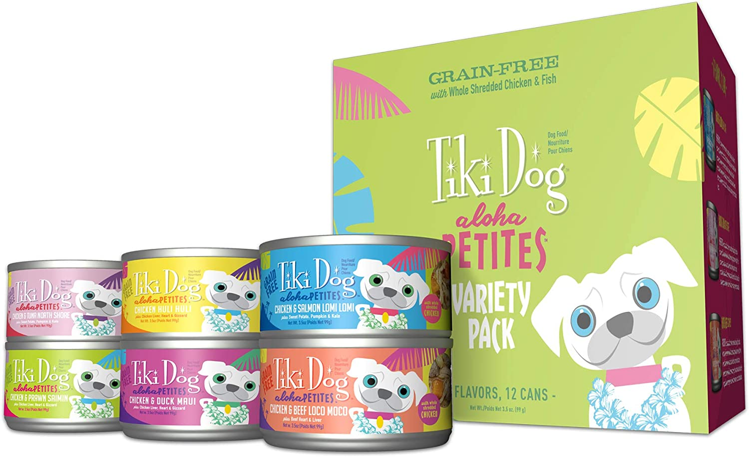 Tiki Dog Aloha Petites Gluten Grain Free Wet Food for Adult Dogs with Shredded Meat Superfoods