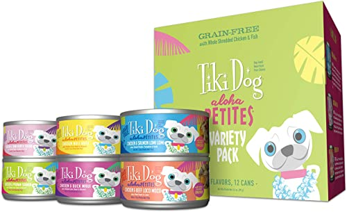 Tiki Dog Aloha Petites Gluten Grain Free Wet Dog Food with Shredded Meat Healthy Superfoods