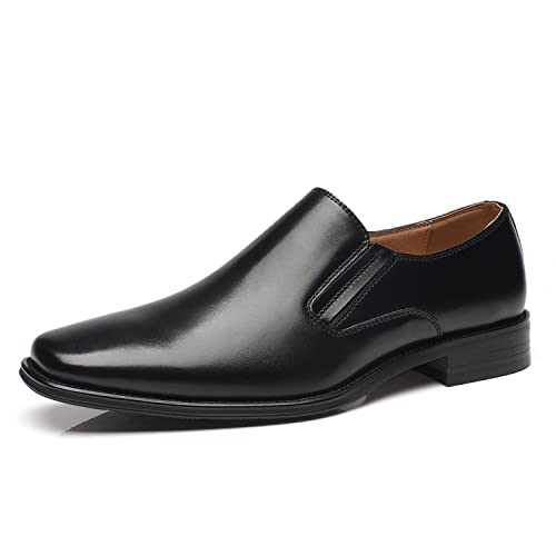 6fa37847944ae NXT NEW YORK Men's Leather Dress Shoes Slip On Plain Toe Loafer Shoes Men  Formal Classic Comfortable Business Shoes