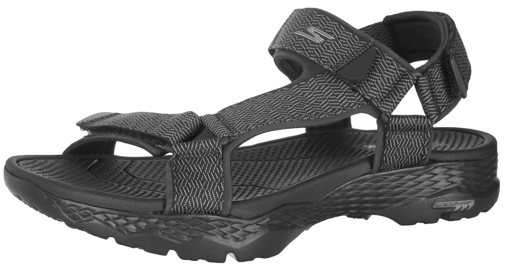 Skechers Men's GO Walk Outdoors-Nature Sport Sandal, Black/Gray, 11 M US
