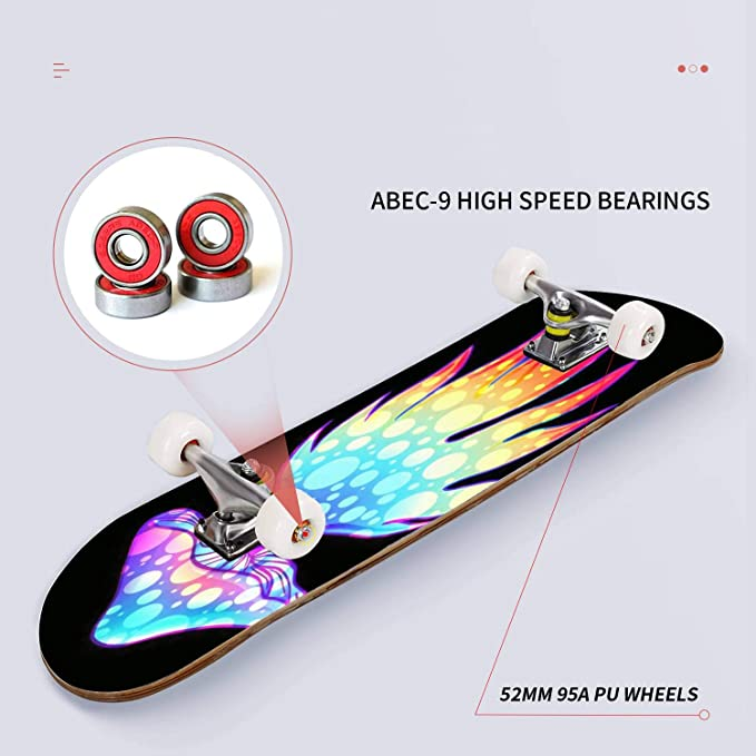 4 St/ück Head Natural Pig-Skateboard-Rollen