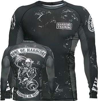 Hardcore Training Sons of Hardcore Rash Guard Mens Camisa de Compresión Hombre MMA BJJ Boxeo Fitness Grappling No Gi: Amazon.es: Deportes y aire libre