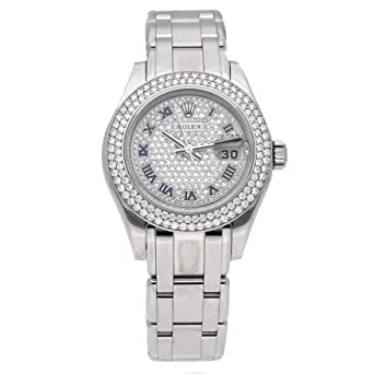 d7152ccb3528 Image Unavailable. Image not available for. Color  Rolex Pearlmaster  Mechanical (Automatic) Diamond Dial Womens Watch ...