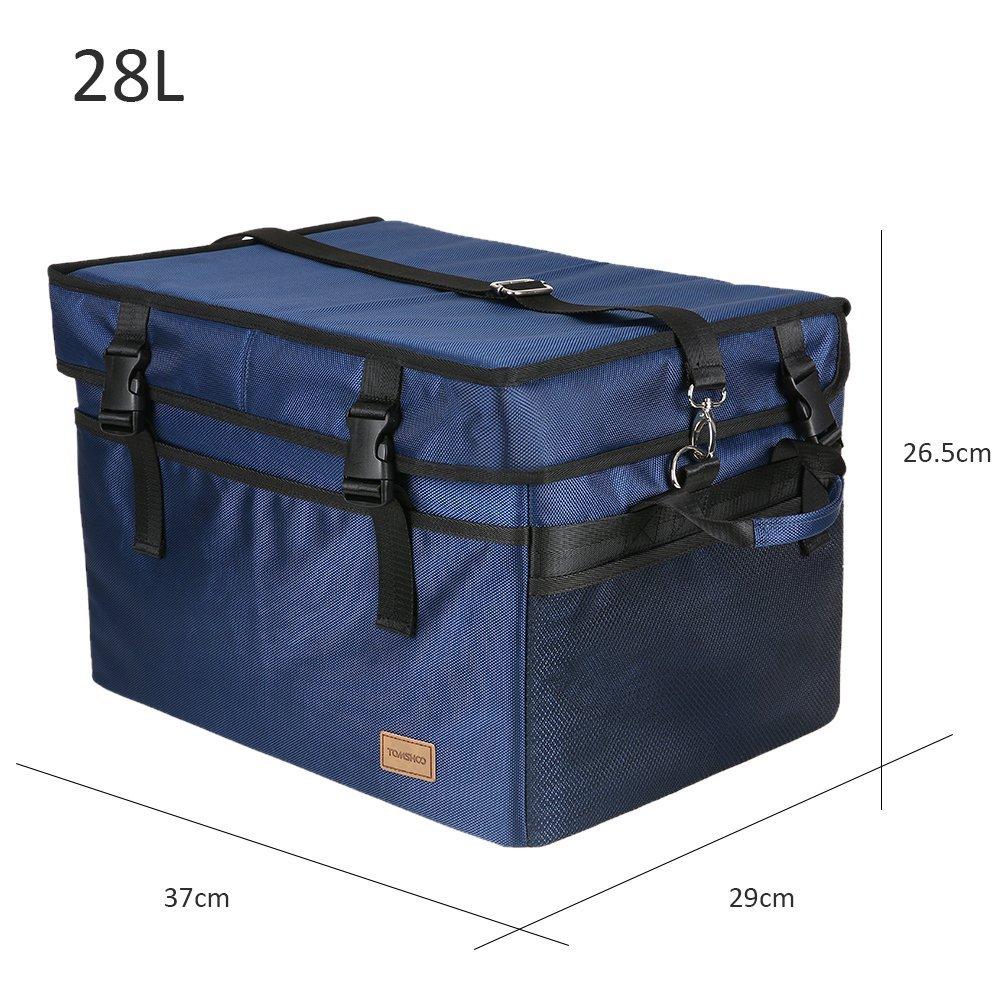 47L Sac /à D/éjeuner R/ésistant Durable Unisexe R/éutilisable Sac de Plage pour Famille Pique-Nique 18L 37L TOMSHOO Sac Isotherme 10L 28L