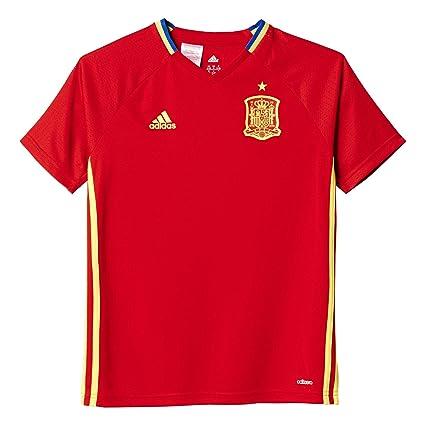 Adidas Federación Española de Fútbol Euro 2016 - Camiseta de Entrenamiento para niño, Color Rojo