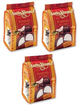 Bombones de coco Antiu Xixona etiqueta roja 140 g. [PACK 3 UNIDADES] TOTAL
